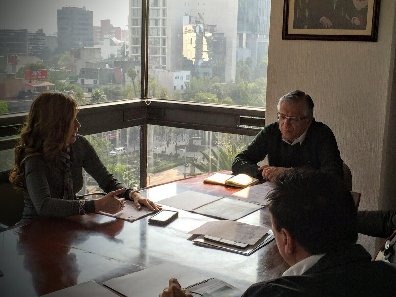 Reunión de trabajo con el M.A.P. Ramón Sosamontes